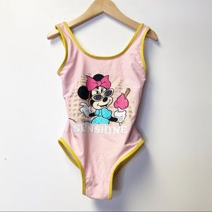 Zara Kids Pink Disney Minnie Sunshine Swimsuit